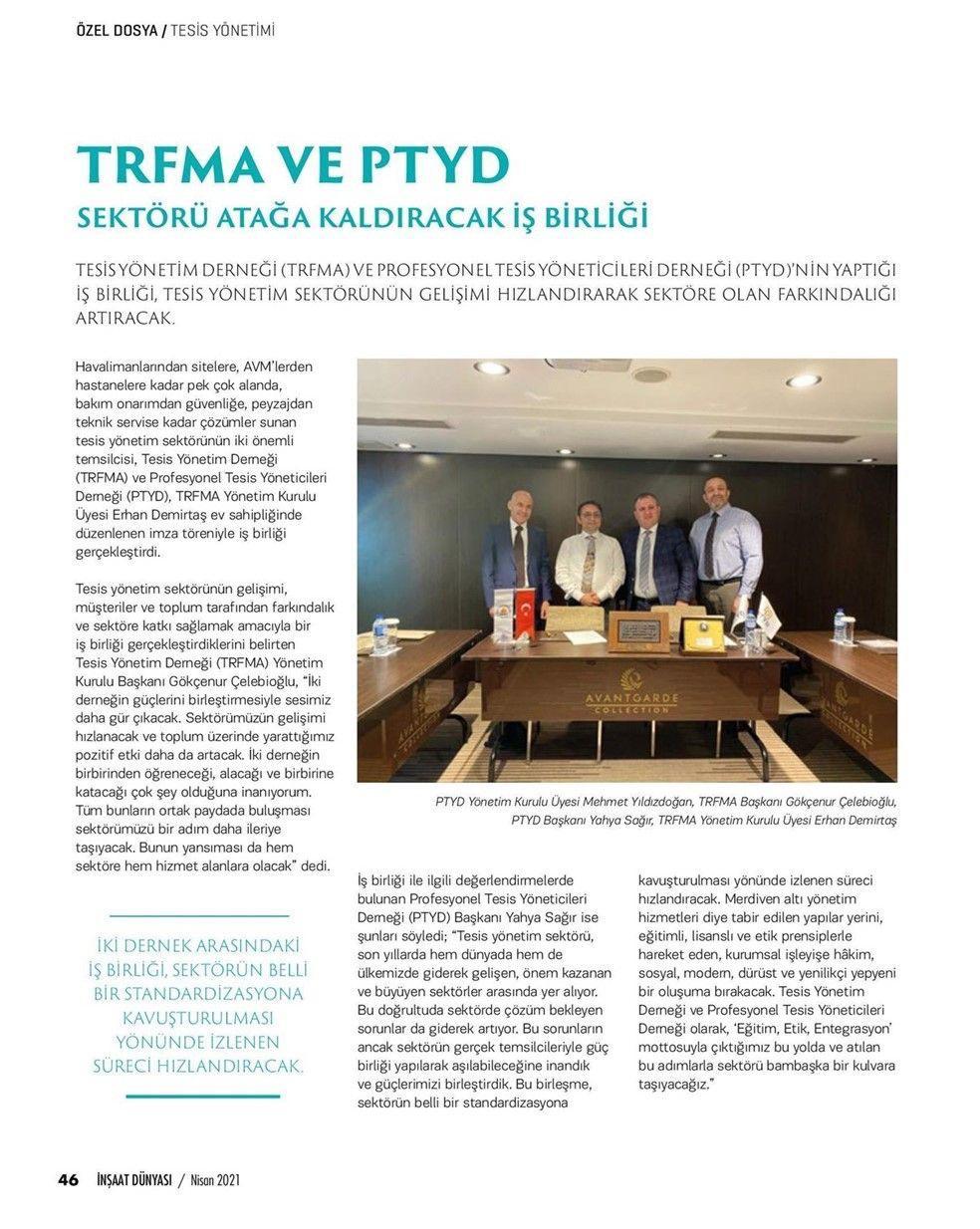TRFMA ve PTYD iş birliği